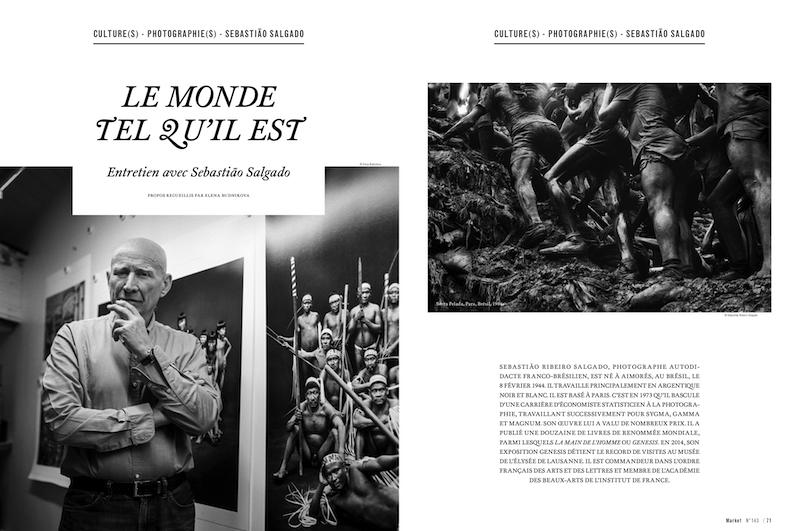 Magazine Market № 144, Geneva. Interview and portrait of Sebastiao Salgado