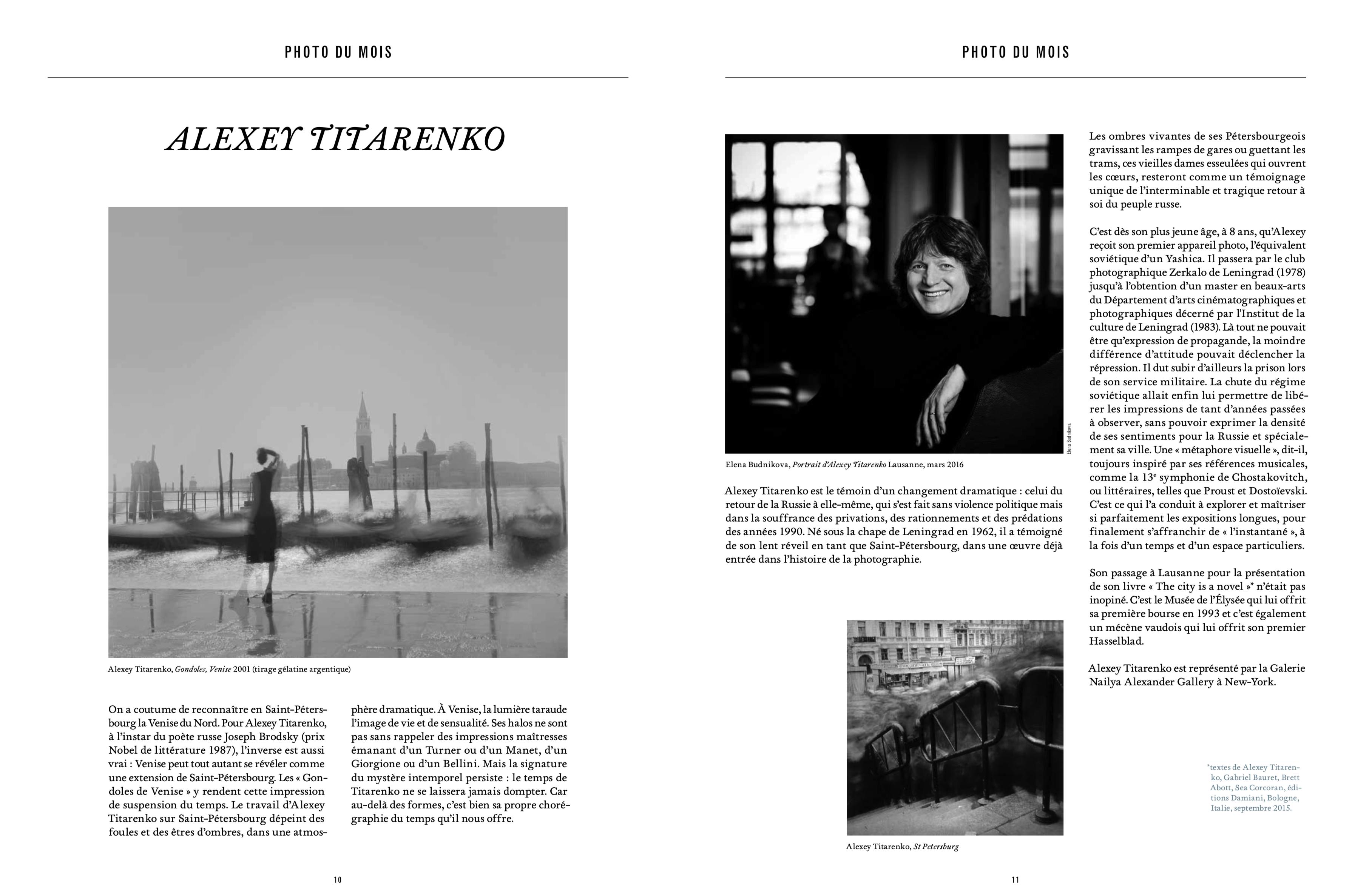 Magazine Market № 129, Geneva. Interview and portrait of Alexey Titarenko