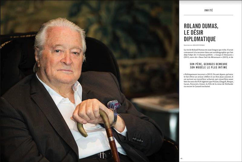 Magazine Market № 125, Geneva.Portrait of Roland Dumas