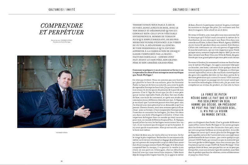 Magazine Market № 116, Geneva.Portrait of Thierry Stern, CEO of Patek Philippe